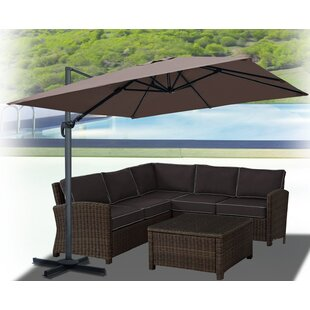 Bayou Breeze Klass Hanging Patio 10' Square Cantilever Umbrella