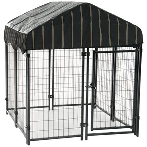 Lucky Dogu2122 Pet Resort Steel Yard Kennel