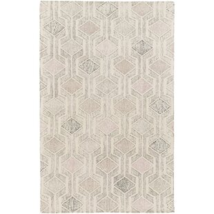 Madero Hand-Tufted Ivory/Gray Area Rug by Langley Street