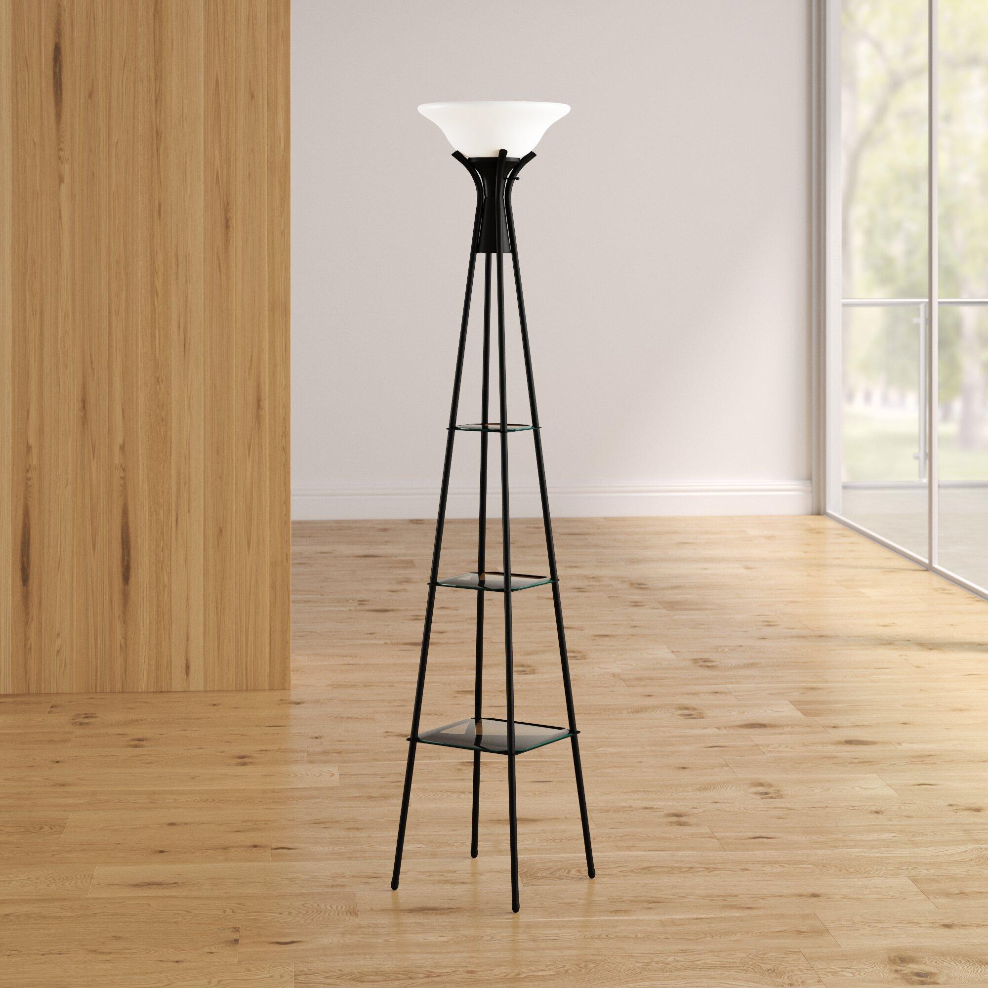 Ivy Bronx Benton Incandescent 70 Torchiere Floor Lamp Reviews Wayfair