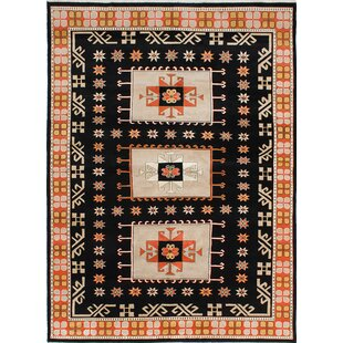 Purchase Kadyn Hand-Knotted Beige/Black Area Rug ByWorld Menagerie