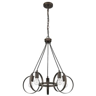 Williston Forge Dawn Ironclad Industrial Ceiling 5-Light Cluster Pendant