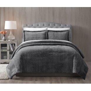 Jame Faux Fur Reversible Comforter Set
