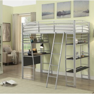 Westborough Contemporary Twin Bunk Configuration Bed with Open Shelving