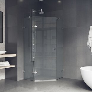 shower enclosures 40 x 7337 neo angle hinged shower enclosure - Glass Enclosures