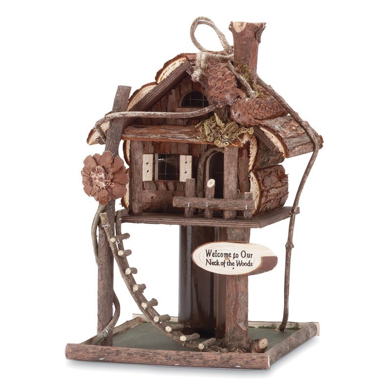 Treehouse Log Cabin Birdhouse