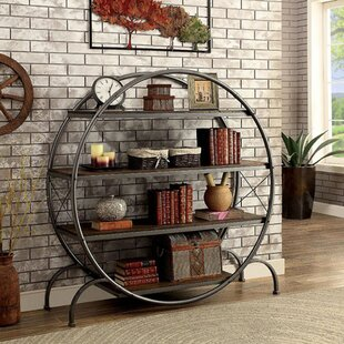 Lipinski Industrial Style Circle Etagere Bookcase