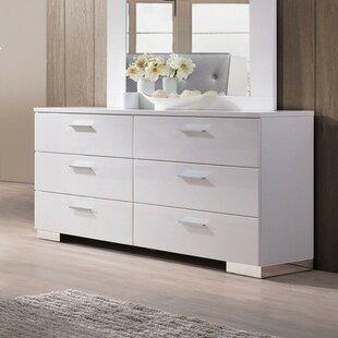 Shumaker Wooden 6 Drawer Double Dresser by Orren Ellis
