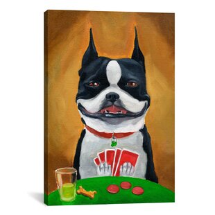 'BT Poker' by Brian Rubenacker Painting Print on Canvas By iCanvas