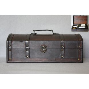 Best Reviews Traditional 2 Bottle Chest Wood Box By Williston Forge