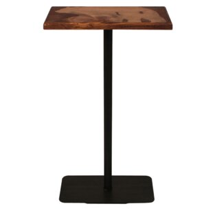 Bridget Wood Top Bear Accent Pub Table Millwood Pines