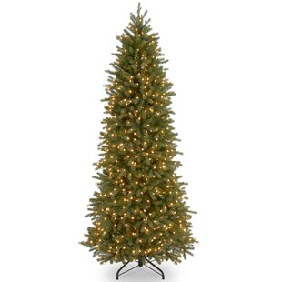 feel real fraser green fir trees artificial christmas tree with 900 incandescent clearwhite lights