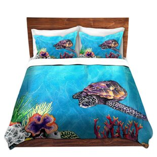 Highland Dunes Fordbridge Sea Turtle Microfiber Duvet Covers