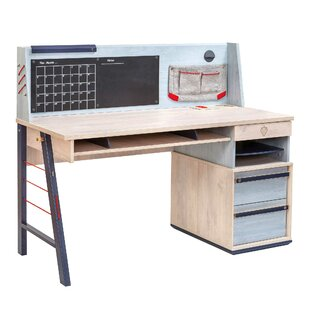 Holroyd Wide Smart Desk With Hutch by Isabelle & Max Wonderful