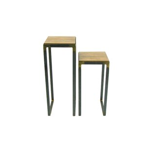 Madhav Solid Wood Top End Table by 17 Stories