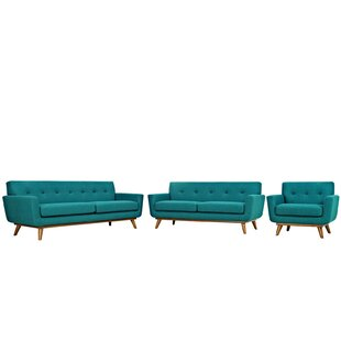 Langley Street Johnston 3 Piece Living Ro..