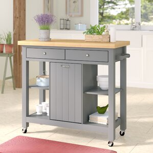 Aldridge Kitchen Cart by Lark Manor