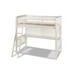 Amethy Loft Bed with Hanging Nightstand - Twin
