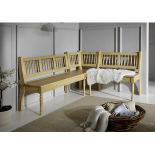 Adamsville Solid Wood Corner Bench By Union Rustic