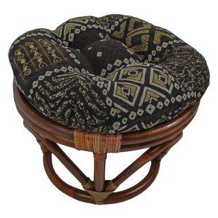World Menagerie Bouirou Papasan Stool with Cushion