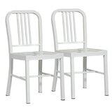 Cowart Metal Dining Chair (Set of 2) by Ebern Designs