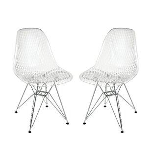 Brake Invisible Swivel Papasan Chair (Set of 2)