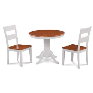 Cedarville Elegant 3 Piece Solid Wood Dining Set Alcott Hill