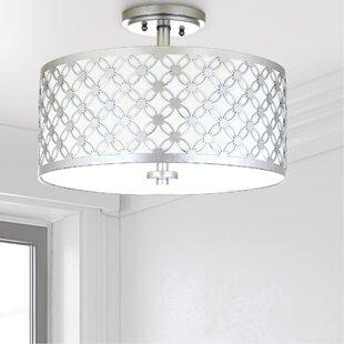 Willa Arlo Interiors Nielsen 3-Light Semi Flush Mount