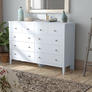 Lignite 8 Drawer Double Dresser with Mirror