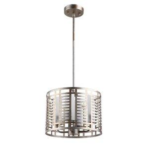 Wrought Studio Carrero Industrial 4-Light Drum Pendant