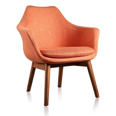 Brayden Studio Shue Armchair Upholstery: Orange