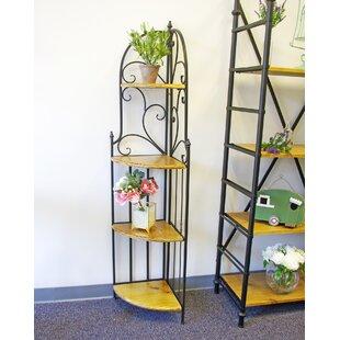 Vannie Shelf Corner Bookcase By Fleur De Lis Living