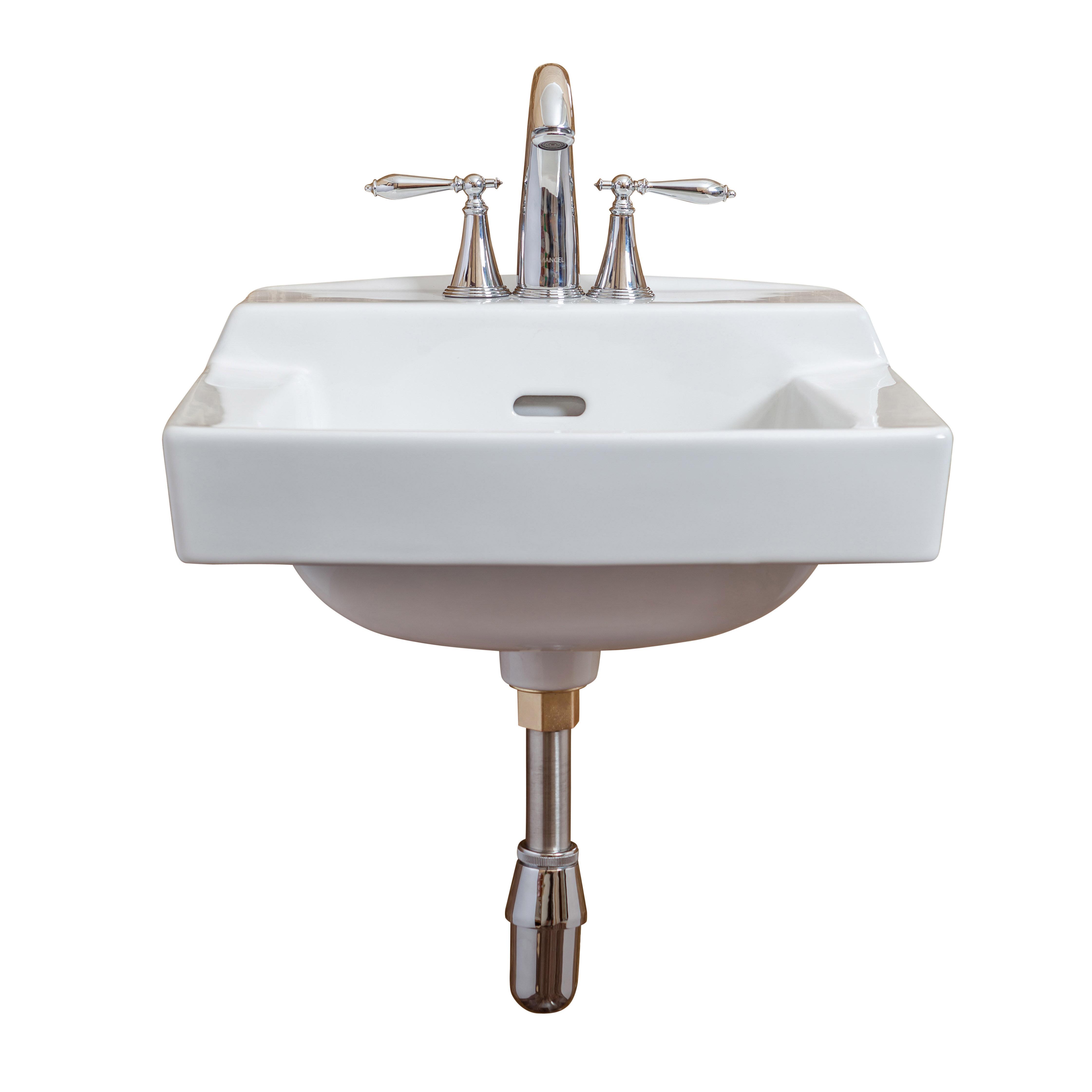 Fine Fixtures Ceramic 19 Wall Mount Bathroom Sink With Overflow Wayfair
