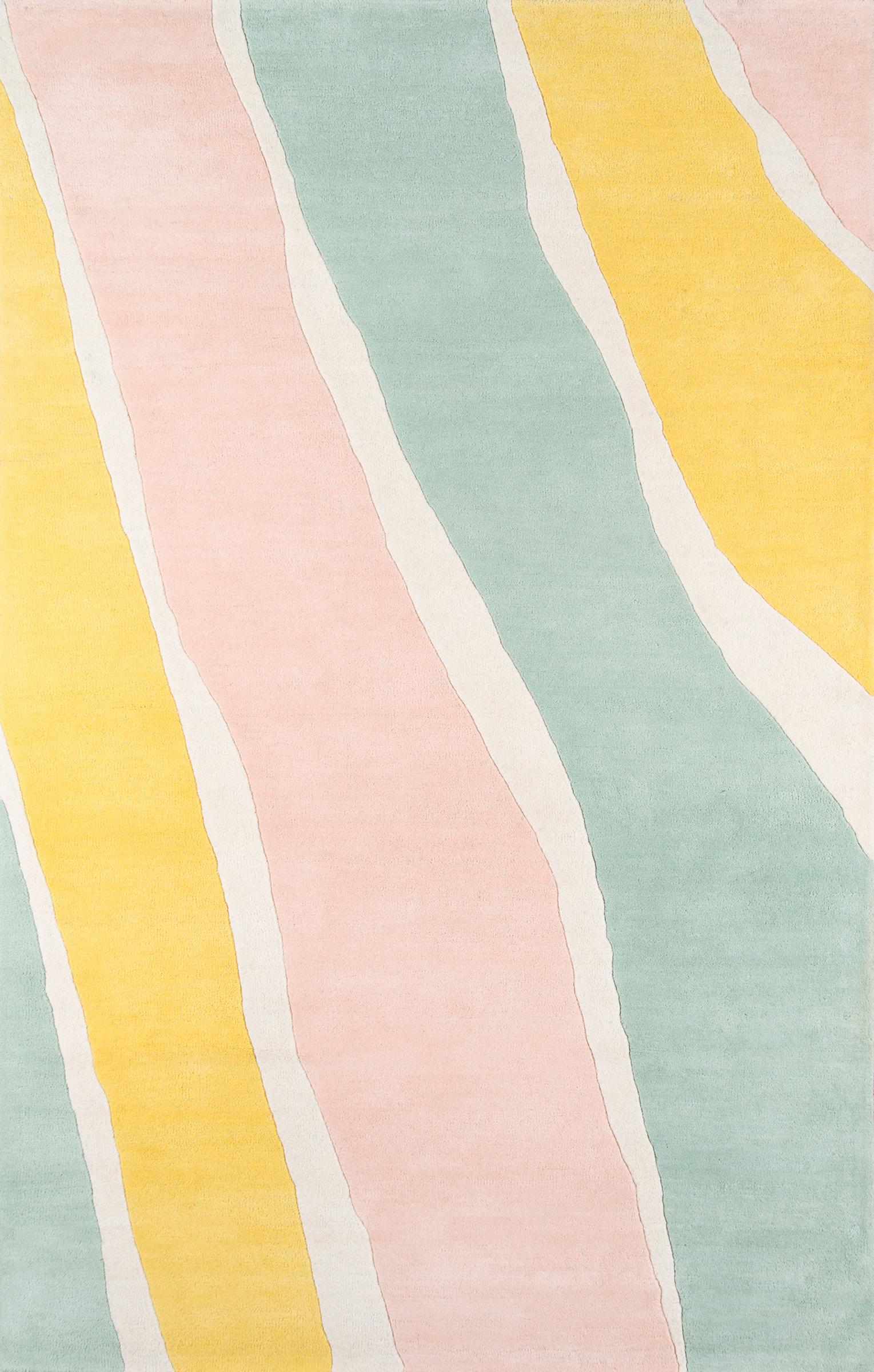 Novogratz Sorbet Handmade Tufted Wool Yellow Light Green Light Pink Rug Reviews Wayfair