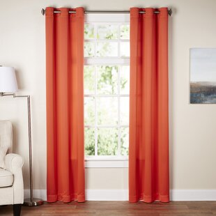 Wayfair Basics Solid Room Darkening Grommet Single Curtain Panel by Wayfair Basics™