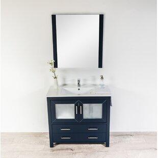 Leena 35 Single Bathroom Vanity Set with Mirror By Wrought Studio