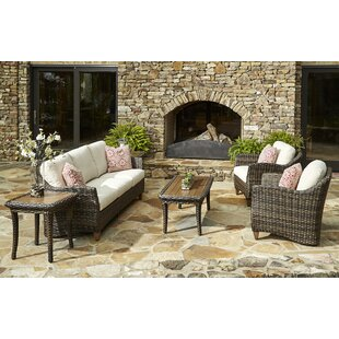 Klaussner Furniture Sycamore 6 Piece Sunbrella Sofa Set with Cushions