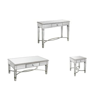 Barbera 3 Piece Coffee Table Set Rosdorf Park