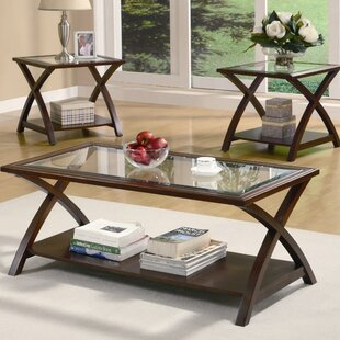 Beyers 3 Piece Coffee Table Set