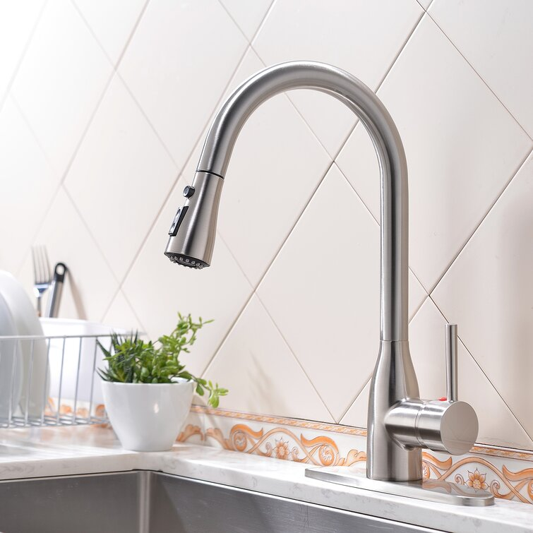 Vapsint Pull Down Single Handle Kitchen Faucet Wayfair