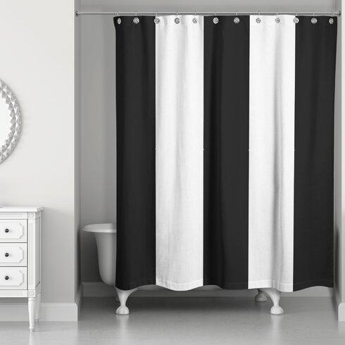 Orren Ellis Pelaez Vertical Striped Shower Curtain   Wayfair