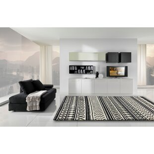 Buy Gagliano Shag Hand Tufted Black/White Indoor Area Rug By Brayden Studio