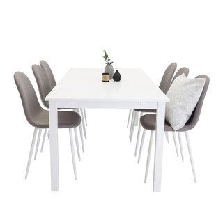 Nehls Extendable Dining Set With 6 Chairs By 17 Stories