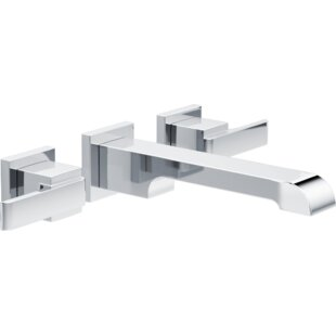 Compare prices Ara Two Handle Wall-Mount Lavatory Faucet By Delta
