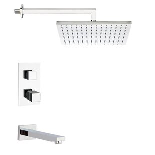 Remer by Nameek's Peleo Thermostatic Tub and Shower Faucet with Valve and Diverter