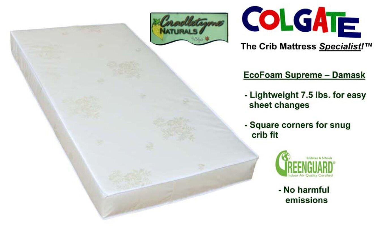 colgate cradletyme naturals ecofoam supreme damask cloth crib