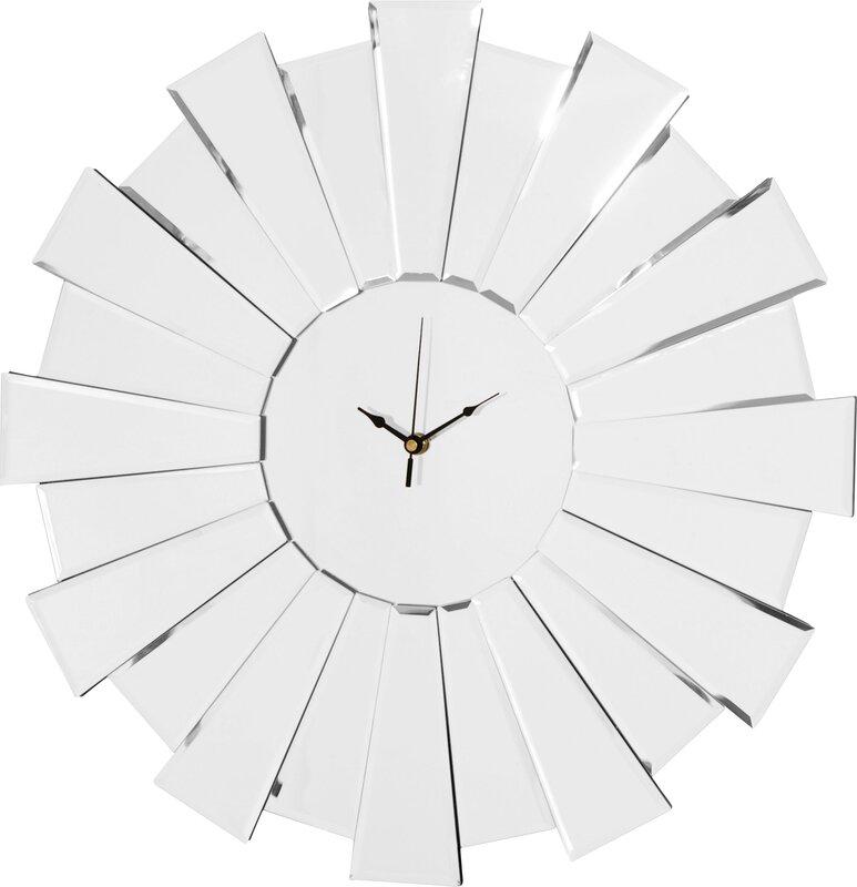 55cm sunburst mirror wall clock - Mirrored Wall Clock