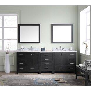Gothenburg 93 Double Bathroom Vanity Set with Mirror by Greyleigh