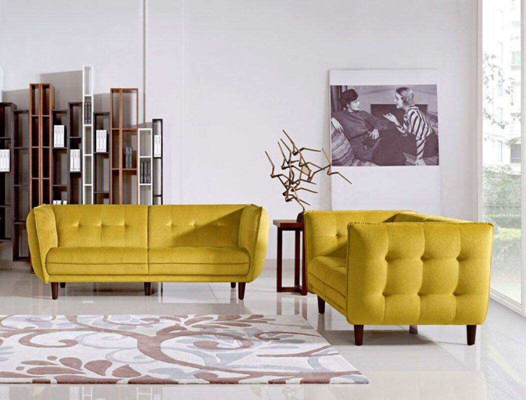 Corrigan Studio Carnmore 2 Piece Living Room Set & Reviews | Wayfair