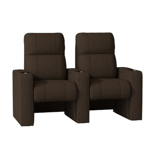 44 Manual Rocker Recline Home Theater Row Seating (Row of 2) by Latitude Run